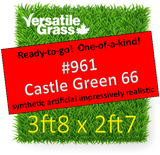 Piece #961 Castle Green 66 Synthetic Artificial Grass 3ft8 x 2ft7 SStor