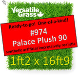 Piece #974 Palace Plush 90  1ft2 x 16ft9 Synthetic Artificial Grass Elm
