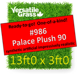 Piece  #986 Palace Plush 90 13ft0 x 3ft0 Synthetic Artificial Grass SStor