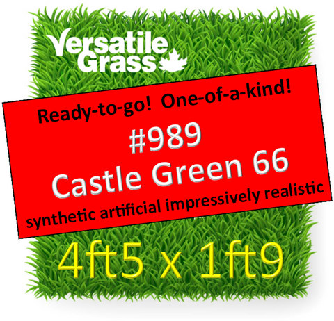 Piece #989 Castle Green 66 4ft5 x 1ft9 Synthetic Artificial Grass ELM