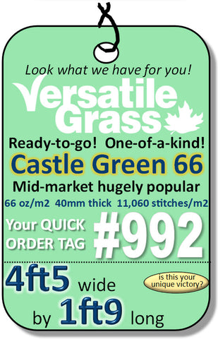 Piece #992 Castle Green 66 4ft5 x 1ft9 Synthetic Artificial Grass ELM