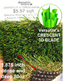 TAG#534 Grandeur Crescentblade 80 Synthetic Artificial Grass 3ft x 3ft11 Elm