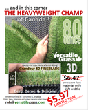 TAG#599 Grandeur Fineblade 80 Synthetic Artificial Grass 3ft4 x 4ft7 Elm