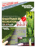 #853 Recreation 68 Synthetic Artificial Grass  6ft1 x 2ft6 Elm