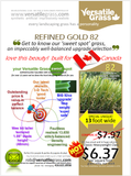 Piece #907 Refined Gold 82 Synthetic Artificial Grass 5ft11 x 1ft9 Elm