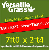 TAG#322 GreenThatch 72 Synthetic Artificial Grass 7ft x 2ft4 Elm