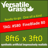 TAG#580 Grandeur Fineblade 80 Synthetic Artificial Grass 8ft6 x 3ft Elm