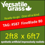 TAG#587 Grandeur FINEBLADE 80 Synthetic Artificial Grass 2ft8 x 6ft7 Elm