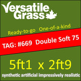 TAG#669 Double Soft 75 Synthetic Artificial Grass 5ft1 x 2ft9 SStor