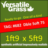 TAG#682 Double Soft 75 Synthetic Artificial Grass 1ft9 x 5ft9 SStor