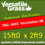 TAG#692 Recreation 68 Synthetic Artificial Grass 15ft x 2ft9 SStor