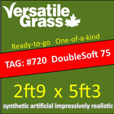 TAG#720 Double Soft 75 Synthetic Artificial Grass 2ft9 x 5ft3 Elm