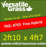 TAG#755 FineBlade Hybrid Synthetic Artificial Grass 2ft10 x 4ft7 Elm
