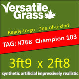 TAG#768 Champion Blade 103 Synthetic Artificial Grass 3ft9 x 2ft8 Elm