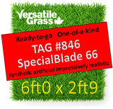 TAG# 846 Special Blade 66  Synthetic Artificial Grass 6ft x 2ft9 Elm