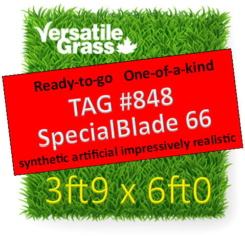 TAG# 848 Special Blade 66 Synthetic Artificial Grass 3ft9 x 6ft Elm