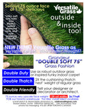 TAG#662 Double Soft 75 Synthetic Artificial Grass 5ft2 x 3ft9 Elm