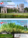 Piece #1126  Castle Green 66   9ft3  x 1ft5 synthetic artificial grass SSTOR