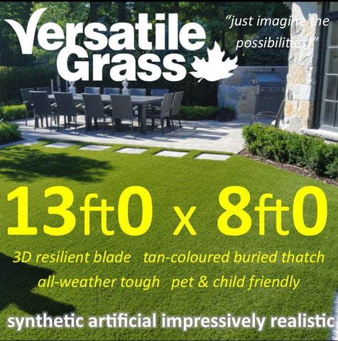13ft x 8ft Multi Usage Synthetic Artificial Grass