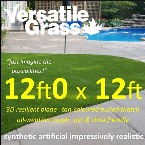 12ft x 12ft Multi Usage Synthetic Artificial Grass