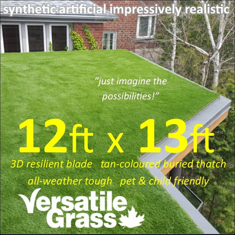12ft x 13ft Multi Usage Synthetic Artificial Grass