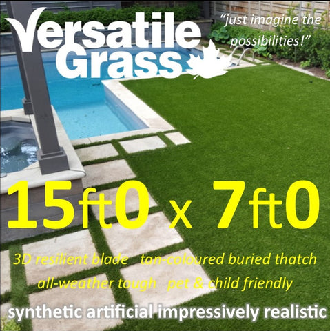 15ft x 7ft Multi Usage Synthetic Artificial Grass