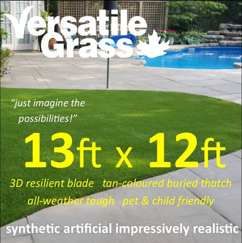 13ft x 12ft Multi Usage Synthetic Artificial Grass