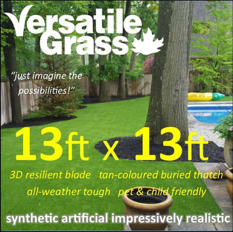 13ft x 13ft Multi Usage Synthetic Artificial Grass