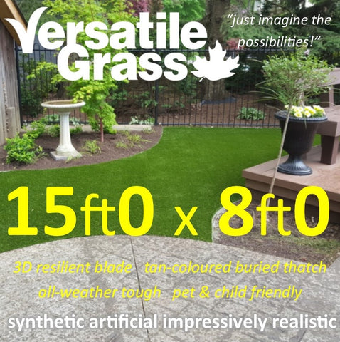 15ft x 8ft Multi Usage Synthetic Artificial Grass