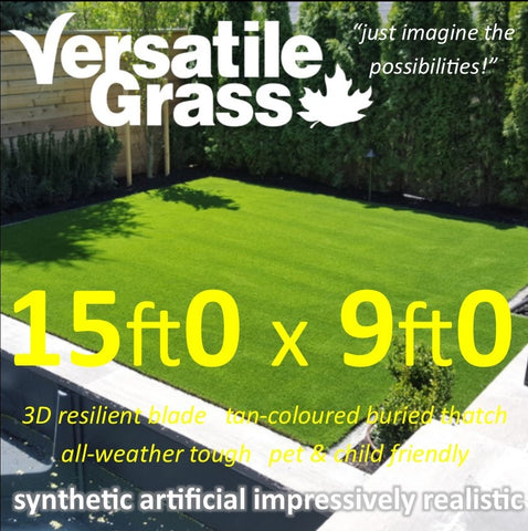 15ft x 9ft Multi Usage Synthetic Artificial Grass