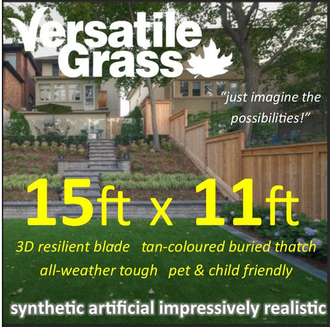 15ft x 11ft Multi Usage Synthetic Artificial Grass