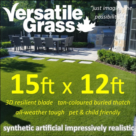 15ft x 12ft Multi Usage Synthetic Artificial Grass