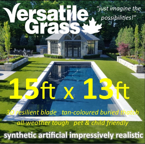15ft x 13ft Multi Usage Synthetic Artificial Grass