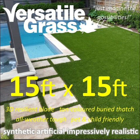 15ft x 15ft Multi Usage Synthetic Artificial Grass
