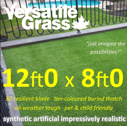 12ft x 8ft Multi Usage Synthetic Artificial Grass