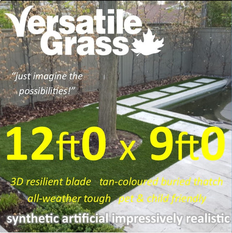 12ft x 9ft Multi Usage Synthetic Artificial Grass