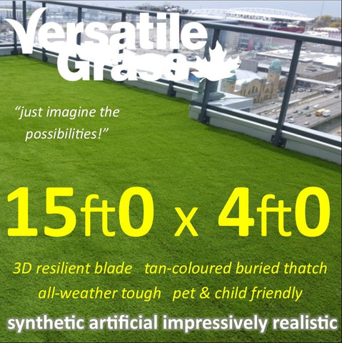 15ft x 4ft Multi Usage Synthetic Artificial Grass