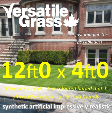 12ft x 4ft Multi Usage Synthetic Artificial Grass