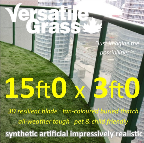 15ft x 3ft Multi Usage Synthetic Artificial Grass