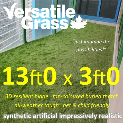 13ft x 3ft Multi Usage Synthetic Artificial Grass