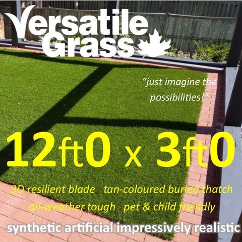 12ft x 3ft Multi Usage Synthetic Artificial Grass