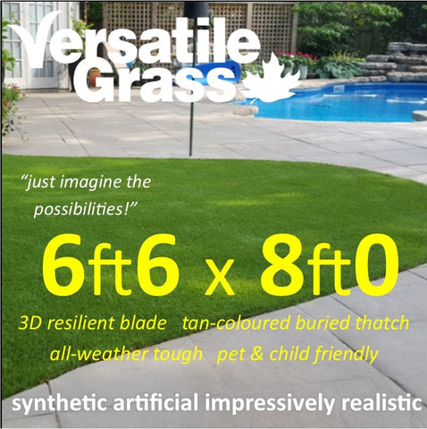 6ft6 x 8ft0 Multi Usage Synthetic Artificial Grass
