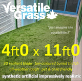 4ft x 11ft Multi Usage Synthetic Artificial Grass