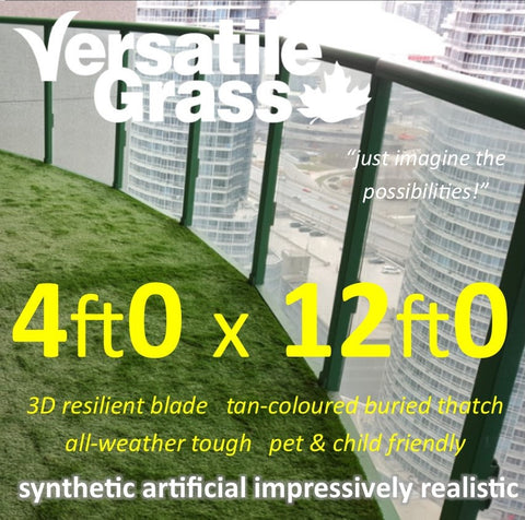 4ft x 12ft Multi Usage Synthetic Artificial Grass