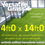 4ft x 14ft Multi Usage Synthetic Artificial Grass