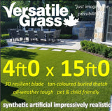 4ft x 15ft Multi Usage Synthetic Artificial Grass