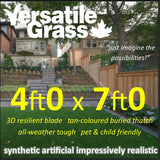 4ft x 7ft Multi Usage Synthetic Artificial Grass