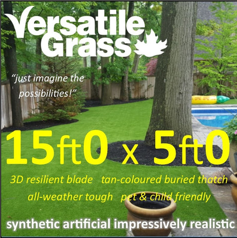 15ft x 5ft Multi Usage Synthetic Artificial Grass