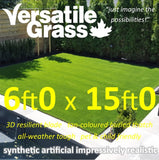 6ft x 15ft Multi Usage Synthetic Artificial Grass