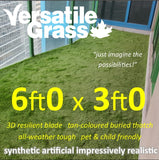 6ft x 3ft Multi Usage Synthetic Artificial Grass